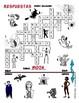 FREE ENGLISH Halloween Crossword Puzzle. ELEMENTARY VERSION!
