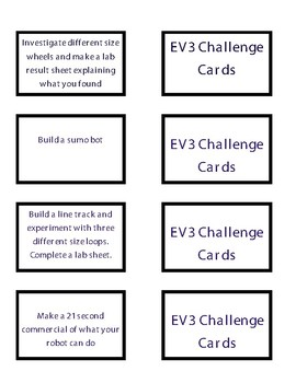 FREE EV3 Challenge Cards for Makerspace