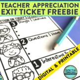 FREE EXIT TICKETS FOR ANY LESSON Printable & Digital for D