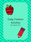 FREE Early Finishers Posters