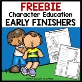 FREE Early Finishers and Enrichment Printables on Character Education