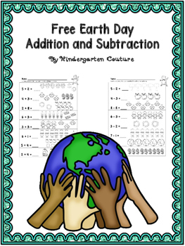 FREE Earth Day Addition and Subtraction