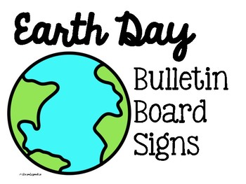 FREE Earth Day Bulletin Board Printable