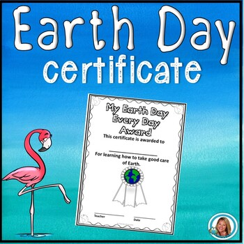 FREE Earth Day Certificate for Students by Teacher's Brain
