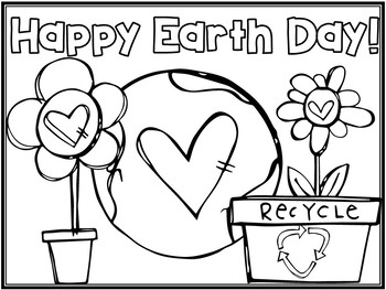 FREE Earth Day Coloring Page
