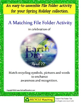 FREE Earth Day File Folder Activity for Autism and Special