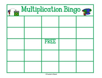 FREE Multiplication Game- Earth Day Multiplication Bingo!