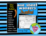 FREE Earth Day One Sheet Wonder