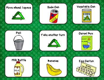 Earth Day Activities:  Recycle Board Game