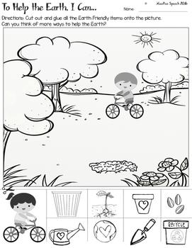 FREE Earth Day Speech Language Worksheet Activity