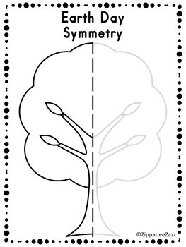 FREE Earth Day Symmetry Drawing Activity for Art and Math SAMPLE