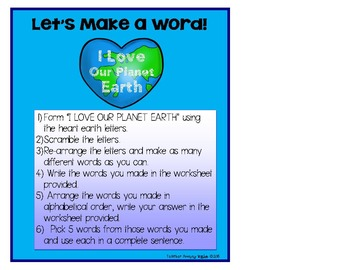 FREE Earth Day Word Work!