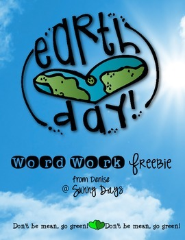 FREE Earth Day Word Work