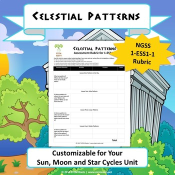 FREE: Earth & Space Science: Celestial Patterns NGSS 1-ESS1-1 Rubric (Generic)