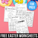FREE Easter Activities For Kindergarten (Math & Literacy No Prep)