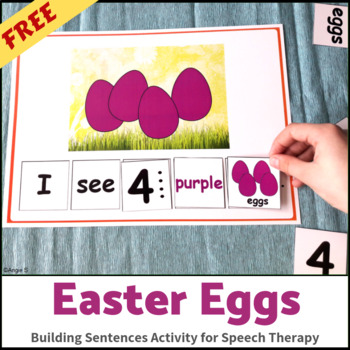 Easter Activity - Building Sentences FREE