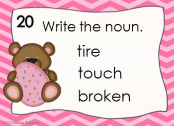 FREE Easter Bears Noun Task Cards