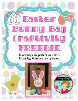 FREE Easter Bunny Bag Craft ~ A Craftivity FREEBIE