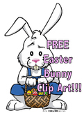 FREE Easter Bunny Clip Art