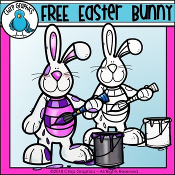 FREE Easter Bunny Clip Art - Chirp Graphics
