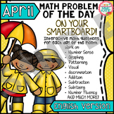 FREE Earth Day & Spring SmartBoard Math Problem of the Day