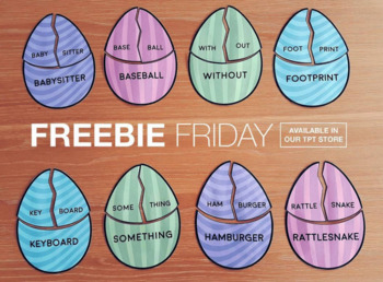 FREE Easter Egg Compound Word Puzzles