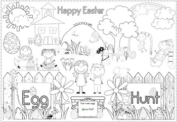 easter free coloring pageclever classroom  teachers pay teachers
