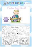 FREE Easter Egg Hunt Poster and Coloring Page - 2 pages