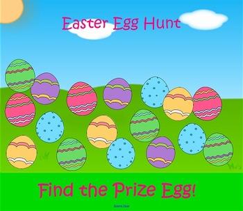 Smartboard Reinforcement Game FREE: Easter Egg Hunt