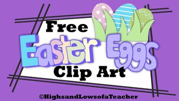 FREE Easter Eggs and Grass Clip Art