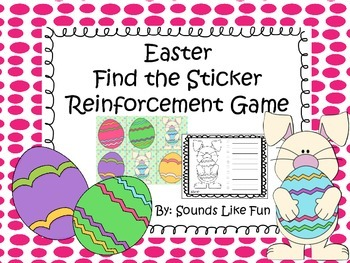 Reinforcement Game FREE: Easter Find the Sticker