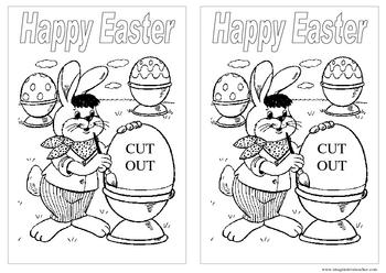 FREE Easter Glitter Card