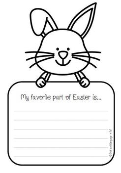 FREE Easter Pascua Bilingual Spanish English writing card prompt español inglés