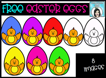 FREE Easter Spring Chicken Eggs Clip Art Set