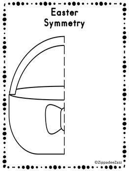 FREE Easter Symmetry Drawing Activity for Art and Math SAMPLE