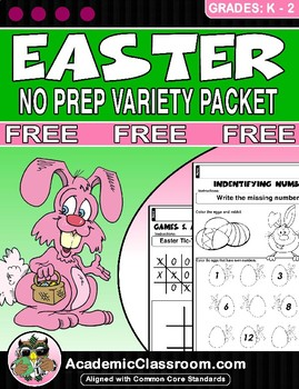 FREE Easter Variety Pack, Alphabets,Math,Games, Easter Gre