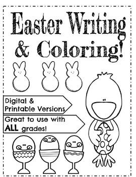 FREE Easter Writing & Coloring Fun: Digital and Printable