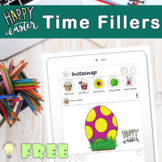 FREE Easter themed Instasnap post no-prep printables/ time filler