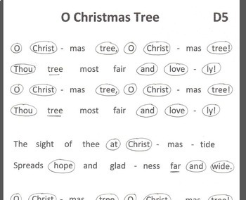 FREE Easy Chimes & Bells  Arrangement  O CHRISTMAS TREE