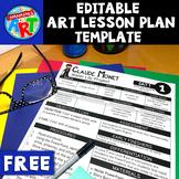 FREE Editable Art Lesson Plan Template