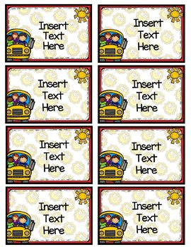 FREE Editable Back to School Labels