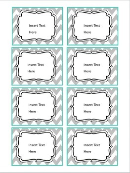 Chevron/Quatrefoil (Teal & Gray) Editable Binder Covers