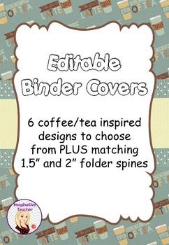 FREE Editable Binder Covers - Coffee/Tea Inspired