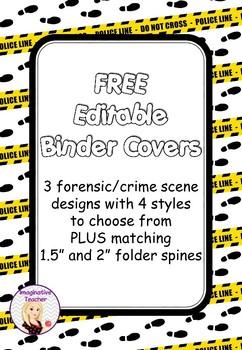 FREE Editable Binder Covers - Crime Scene
