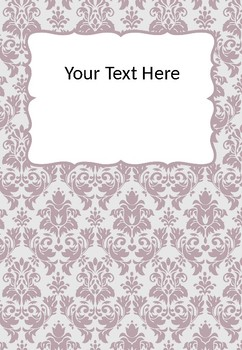 FREE Editable Binder Covers - Damask