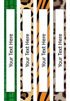 FREE Editable Binder Covers - Jungle Feathers and Fur