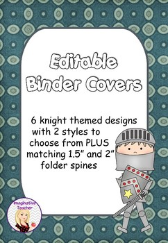FREE Editable Binder Covers - Knights