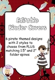 FREE Editable Binder Covers - Pirates