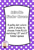 FREE Editable Binder Covers - Polka Dots