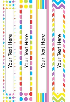 FREE Editable Binder Covers - Rainbow